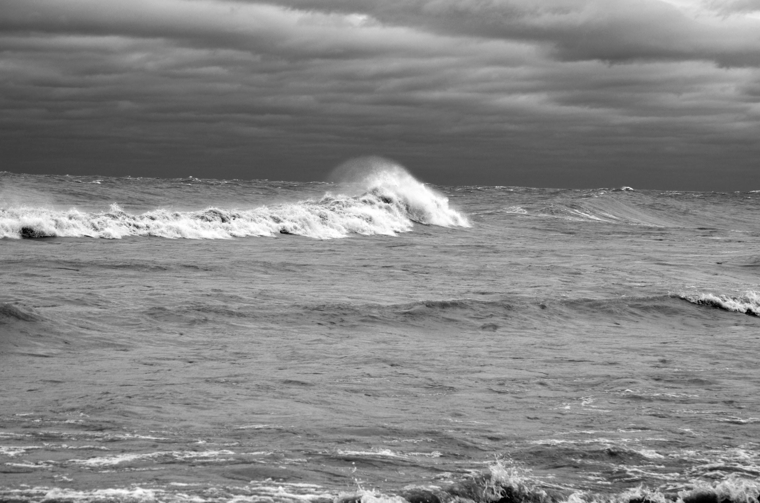 Hurracine Sandy  on Lake Michigan 1