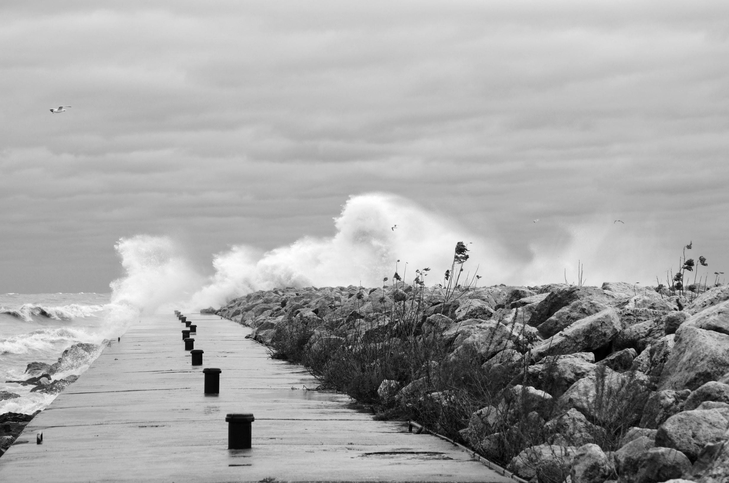 Hurracine Sandy  on Lake Michigan 4