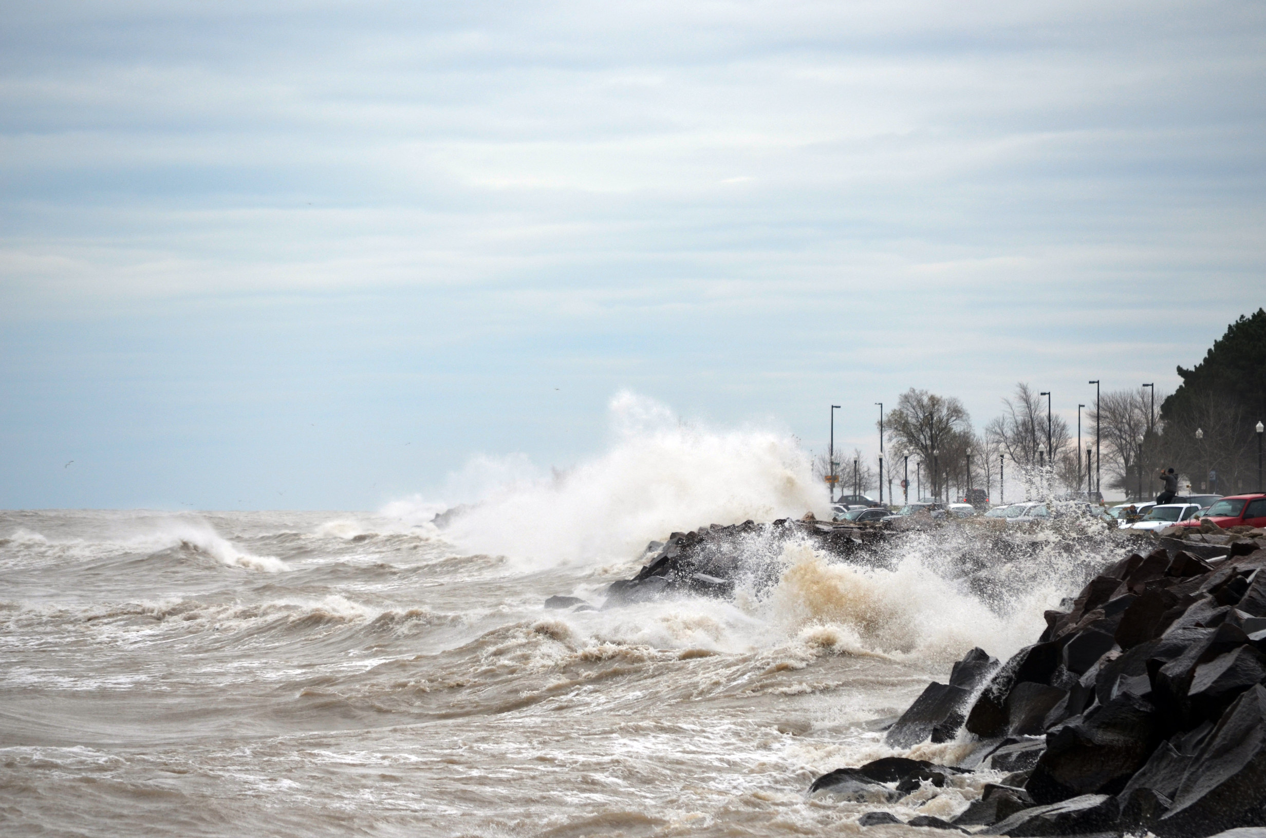 Hurracine Sandy  on Lake Michigan 5