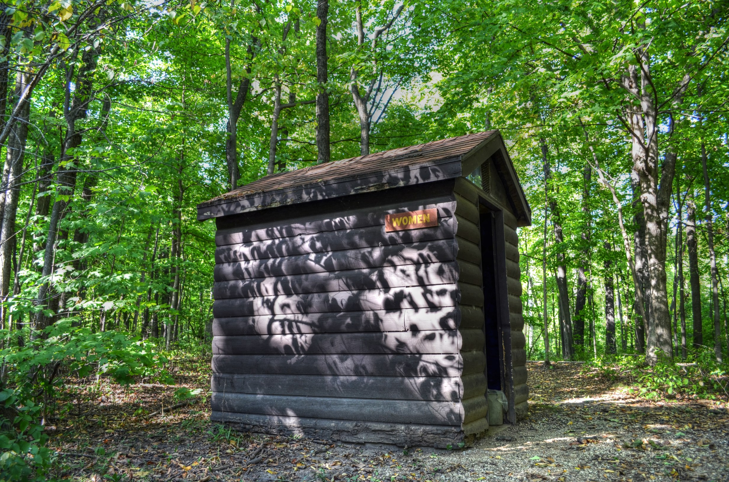 Sanders Park outhouse 2