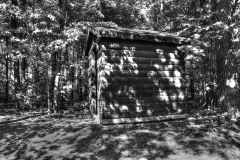 Sanders Park outhouse 1