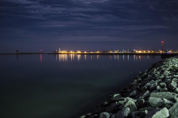 Racine Harbor at Night 2
